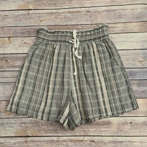 BKE Distressed Striped Shorts